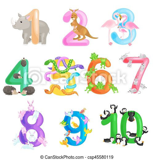 vektor clipart von ordinal f higkeit satz tiere abc alphabet abbildung csp45580119. Black Bedroom Furniture Sets. Home Design Ideas