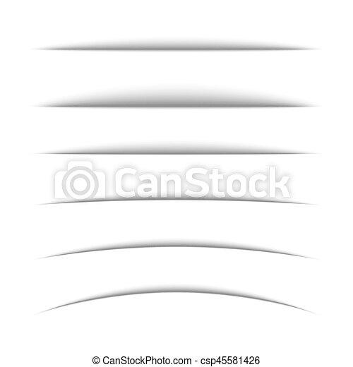 Set of black oval shadow. - csp45581426