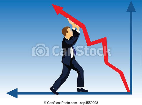 Financial lifting - csp4559098