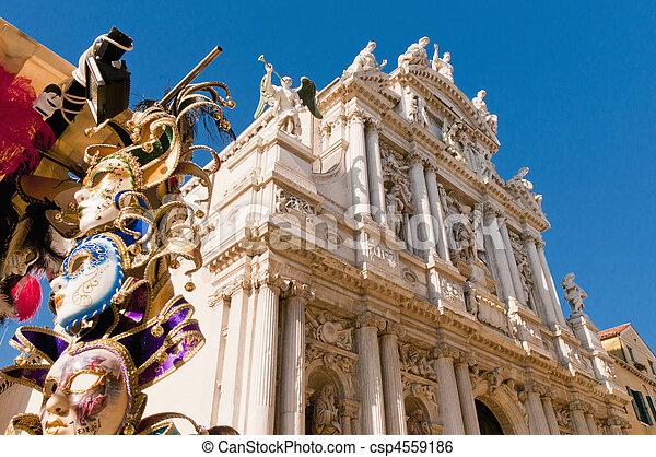 Santa Maria dei Giglio church at Venice, Italy - csp4559186