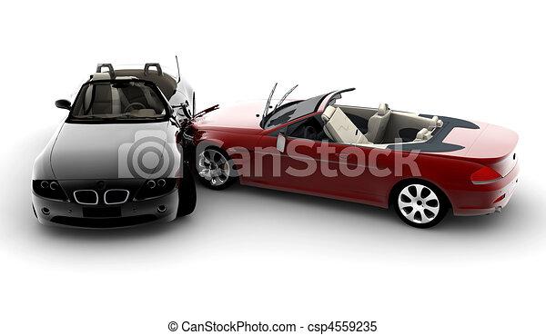 Illustrations de voitures accident deux voitures dans une accident csp4559235 - Coloriage cars accident ...