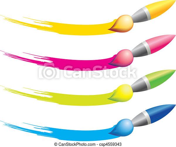 Brush icons  - csp4559343