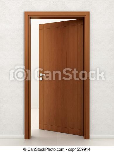 Dessin de bois porte porte bois entr e ouvert for Porte ouverte dessin