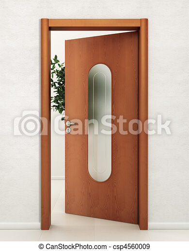 Stock de ilustraciones de vidrio madera puerta puerta for Puertas de entrada con vidrio