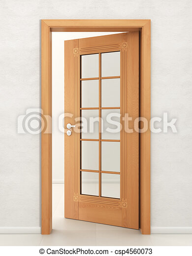 Dibujos de puerta madera vidrio entrada abierto local for Puertas madera vidrio para interior