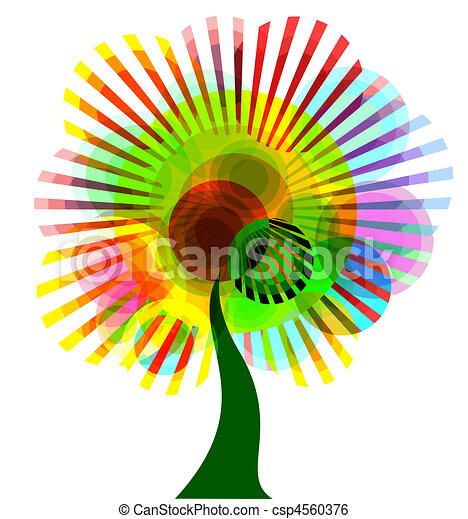 abstract colorful tree - csp4560376