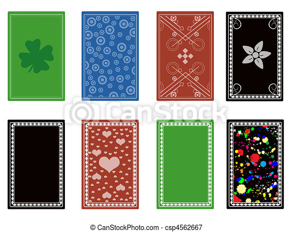 Vectors Illustration of back from playing cards - Set of ...