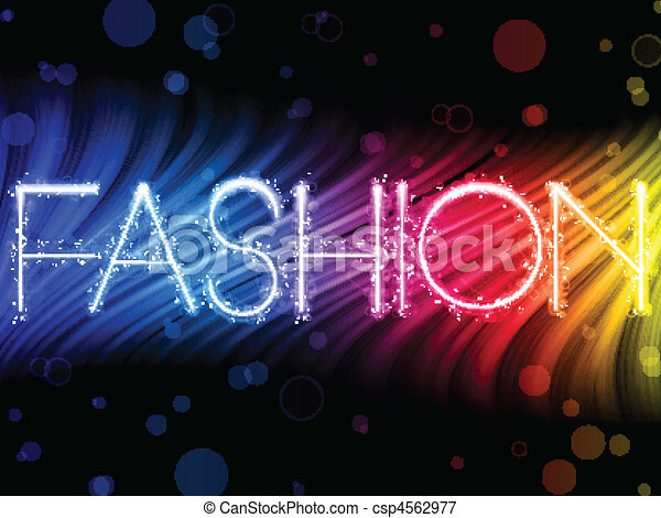 Fashion Abstract Colorful Waves on Black Background - csp4562977