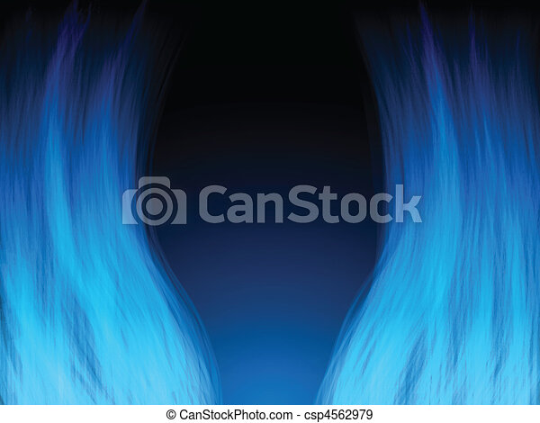 Blue Fire Flames. Color and forms are editable. - csp4562979