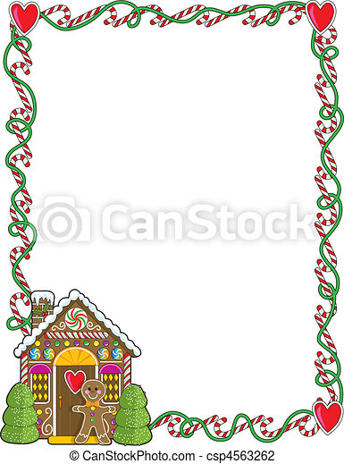 Gingerbread House Corner - csp4563262
