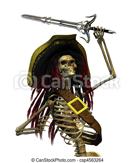 Fighting Skeleton Pirate - csp4563264