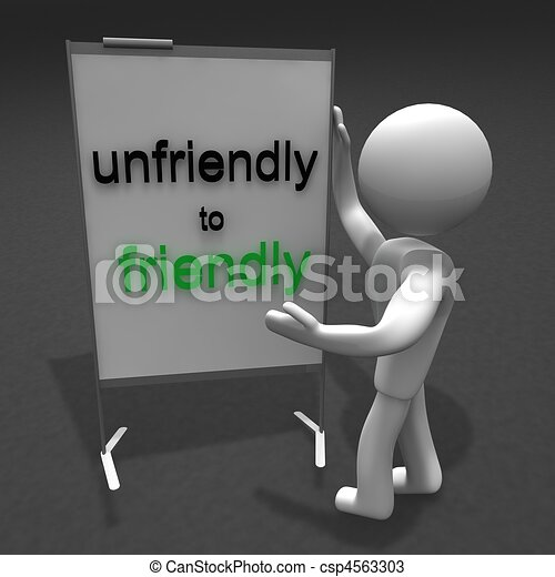 Drawings of unfriendly to friendly - people unfriendly to ...