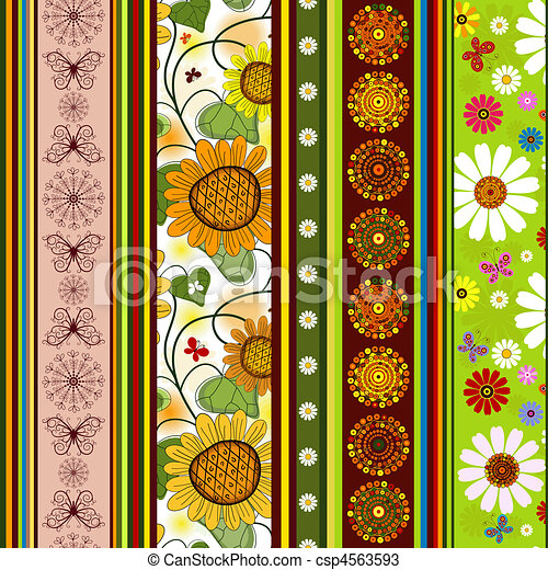 Seamless striped vivid pattern - csp4563593