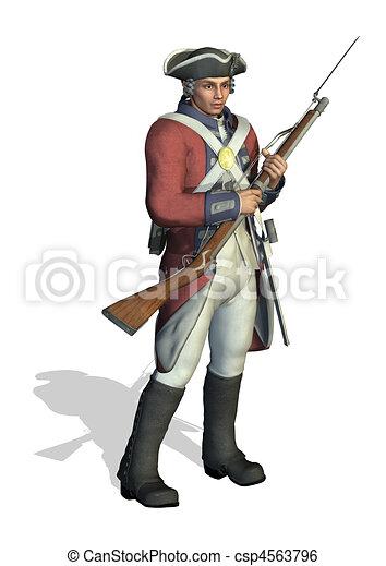 Revolutionary War Soldier - csp4563796