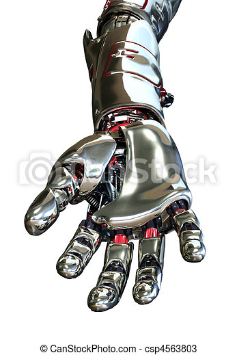 Robot Hand Reaching Forward - csp4563803