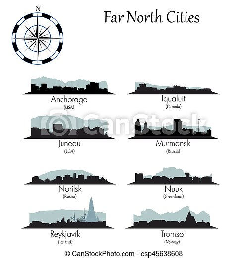 Far north cities collection - csp45638608