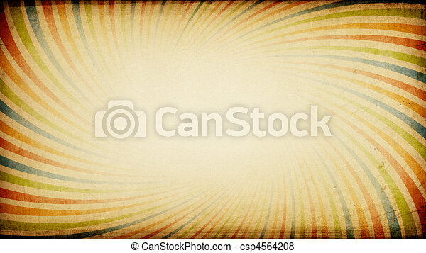 Vintage sunburst colorful wide background with aspect ratio 16:9. - csp4564208