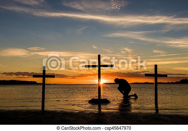Calvary Prayer - csp45647970
