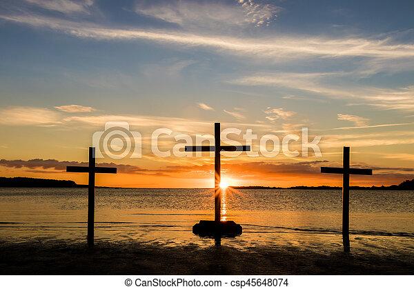 Sunset Water of Calvary - csp45648074