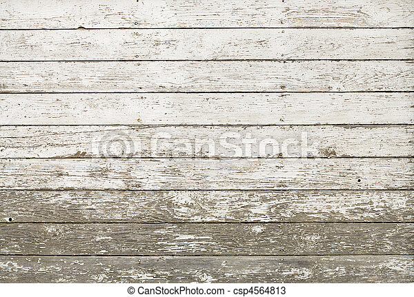 Old rustic white plank barn wall - csp4564813