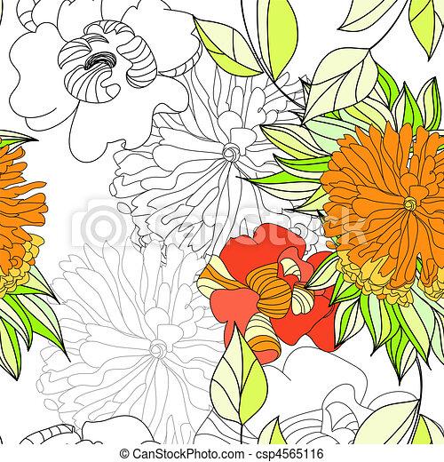 Summer seamless wallpaper  - csp4565116