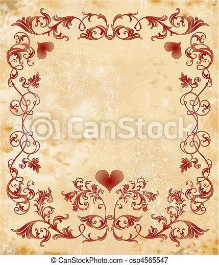 vinage valentines day card - csp4565547