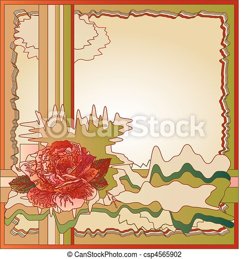abstract background with rose - csp4565902