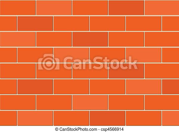 Vector brick wall  - csp4566914