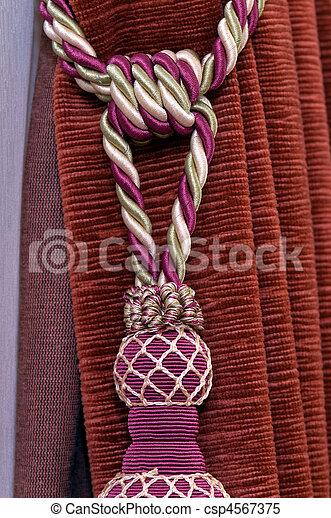 images de noeud d coration rideau comme a noeud de couleur csp4567375 recherchez. Black Bedroom Furniture Sets. Home Design Ideas