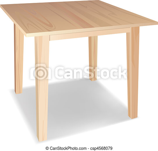 wooden table - csp4568079