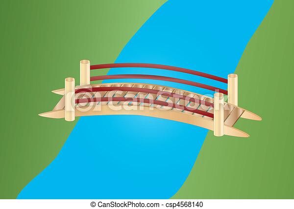 little bridge over a creek - csp4568140