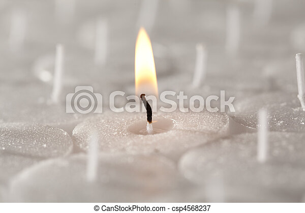 Church / Tea Candles Close Up - csp4568237