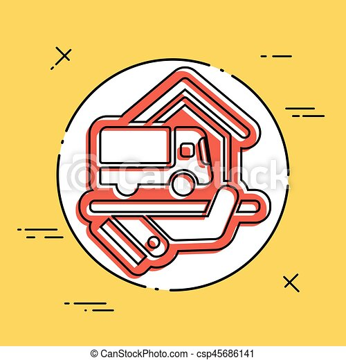 Home delivery service - csp45686141