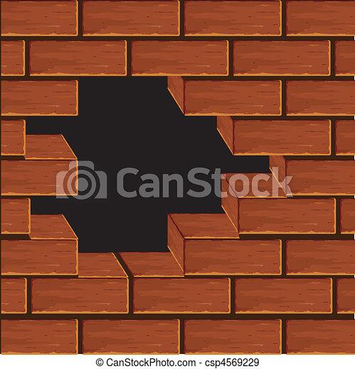 vecteurs eps de volume mur brique vecteur volume mur depuis a csp4569229. Black Bedroom Furniture Sets. Home Design Ideas