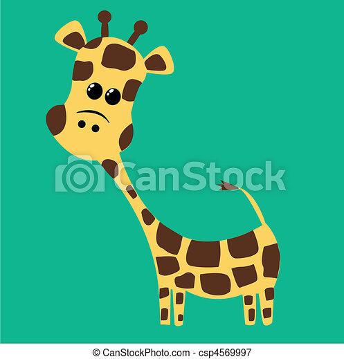 lindo, jirafa - csp4569997