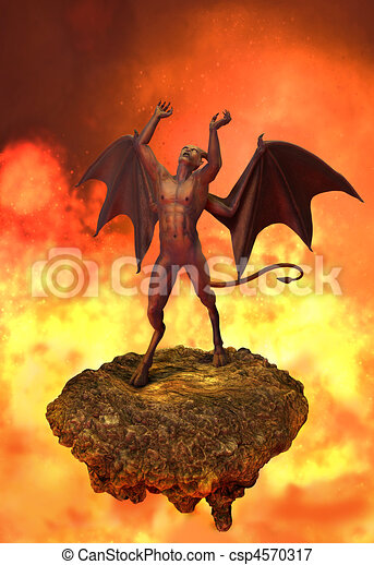 The Devil Rages in Hell - csp4570317