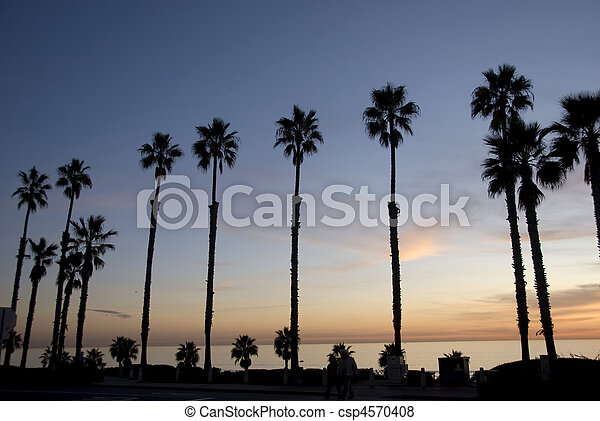 Sunset along southern coast - csp4570408