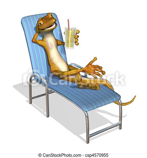 Archivio illustrazioni di geco rilassante 3d render for Disegno geco