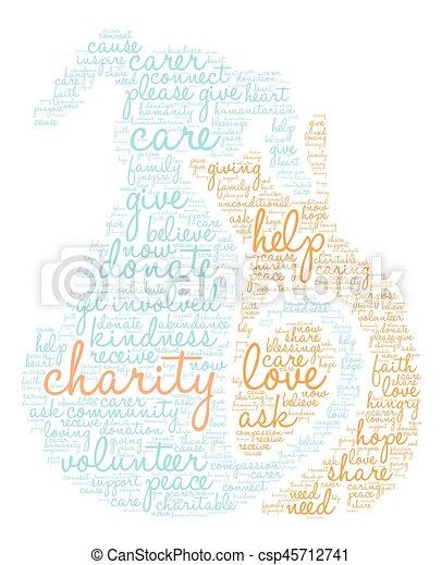 Charity Word Cloud - csp45712741