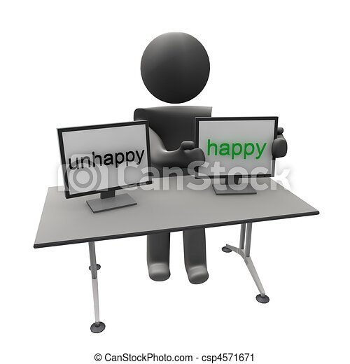 unhappy to happy - csp4571671