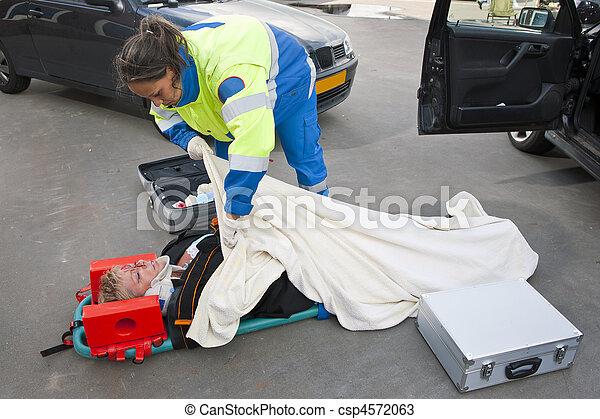 Injured woman - csp4572063