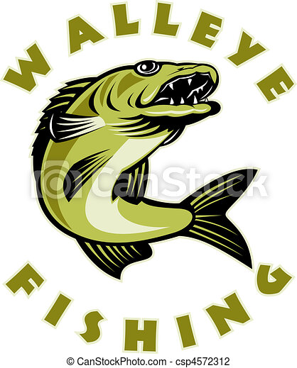 Walleye fish jumping  - csp4572312