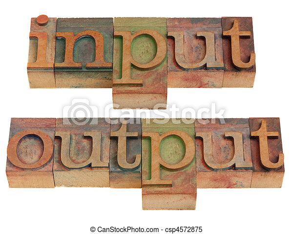 input and output - csp4572875