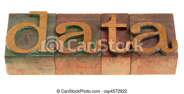 data word in wooden typeface - csp4572922