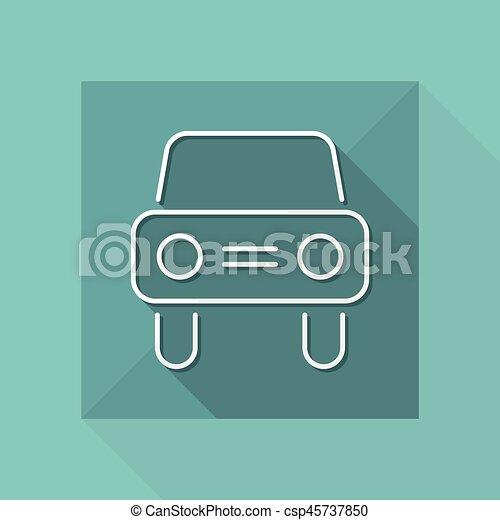 Car icon - Thin series - csp45737850