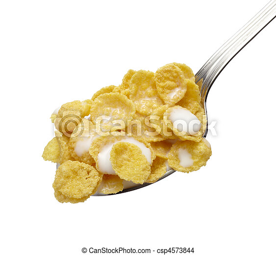 corn flakes cereals muesli food - csp4573844