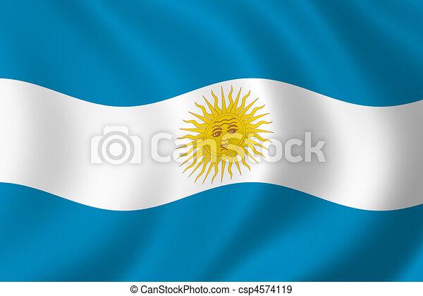 bandera,  Argentina - csp4574119