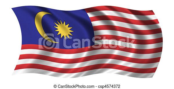 Flag of Malaysia - csp4574372