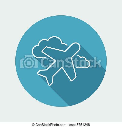 Airplane icon - Thin series - csp45751248