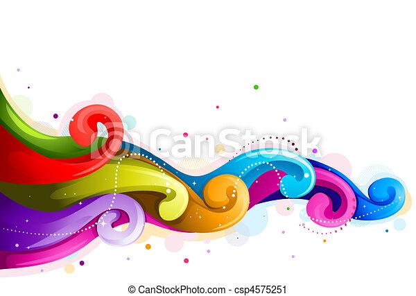 Abstract Rainbow Wave - csp4575251